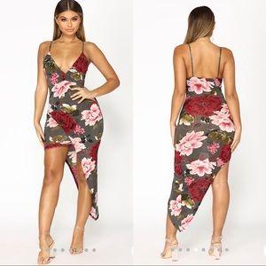 Fashion Nova Asymmetrical dress xs